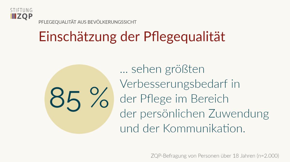 Pflegequalität aus Bevölkerungssicht – 2016