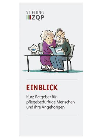 Titelblatt für Infoflyer Einblick Reihe