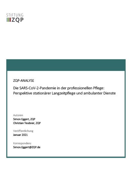 Die SARS-CoV-2-Pandemie in der professionellen Pflege: Perspektive stationärer Langzeitpflege und ambulanter Dienste