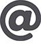 Ein graues Ät-Zeichen zeigt an: Hier finden Sie die Information zur E-Mail-Adresse.