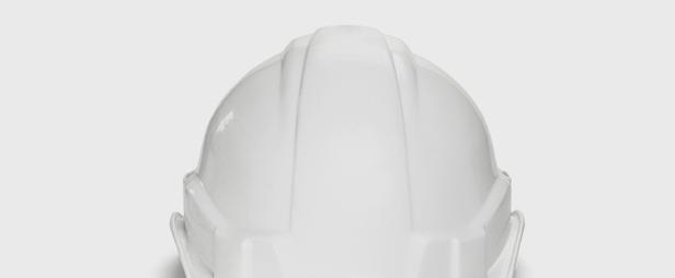 Weißer Bauhelm