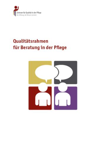 Titelblatt Qualitätsrahmen für Beratung in der Pflege