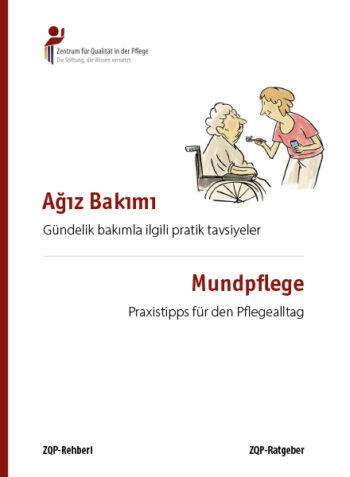 Titelblatt des Ratgebers Mundpflege in türkischer und deutscher Sprache