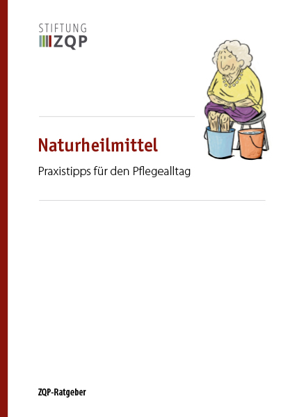 Titelblatt Ratgeber Natürliche Heilmittel und Anwendungen für pflegebedürftige Menschen