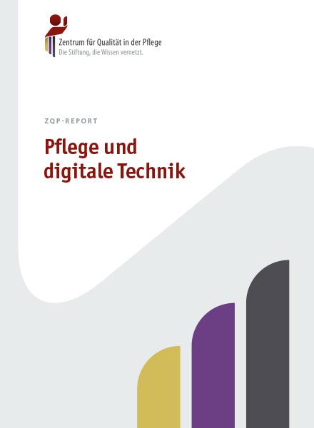 Titelblatt des ZQP-Reports Pflege und digitale Technik