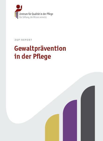 Titelblatt Report Gewaltprävention in der Pflege
