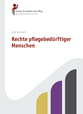 Titelblatt ZQP-Report Rechte pflegebedürftiger Menschen