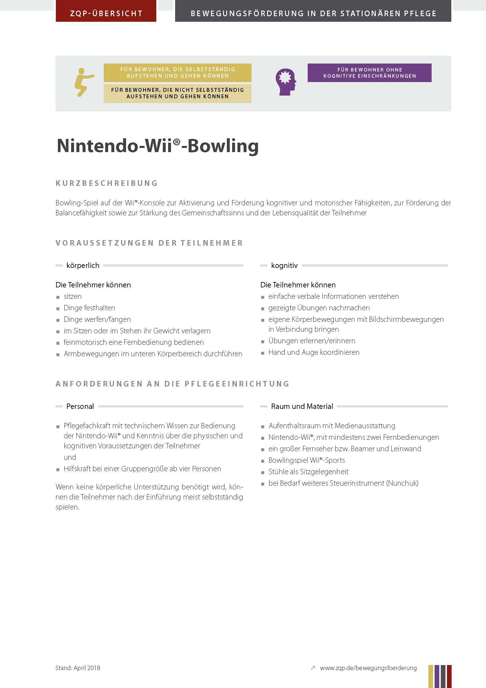 Titelblatt Nintendo-Wii Bowling