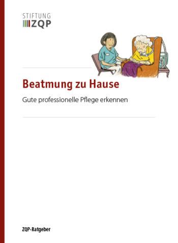 Titelblatt des Ratgebers Beatmung zu Hause