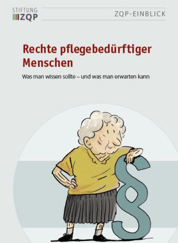 Titelblatt des Einblicks Rechte pflegebedürftiger Menschen