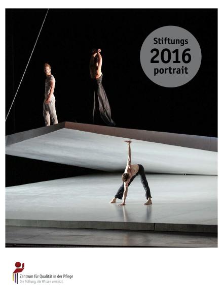 Titelblatt Stiftungsportrait 2016 mit tanzenden Personen