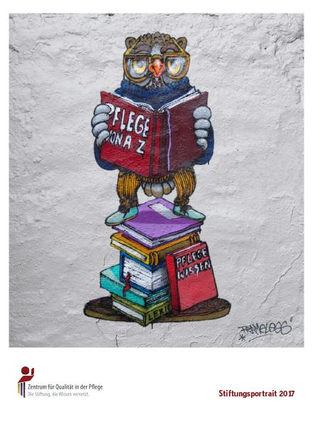 Titelblatt Stiftungsportrait 2017 mit Graffiti-Eule